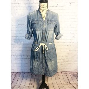 Michael Kors Chambray Button Down Dress